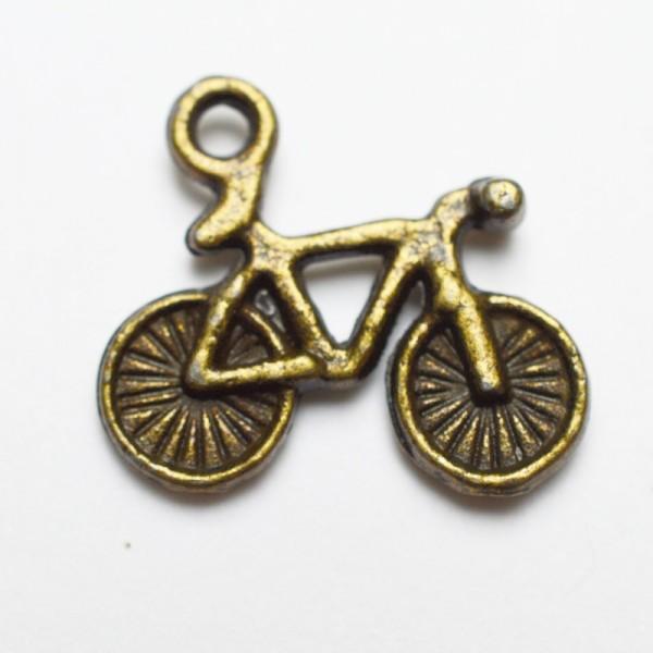 Fahrrad, messing, Charm