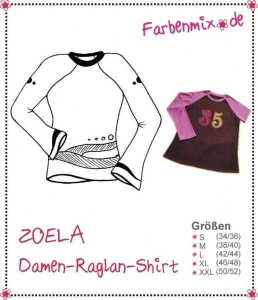 ZOELA, Damen-Raglan-Shirt, FM-Schnittmuster *SALE*