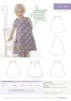 Minikrea Einfaches Kleidchen 20004, Schnittmuster