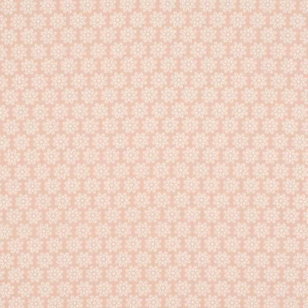 Mira kleine Blüte weiss auf rosé, Webstoff