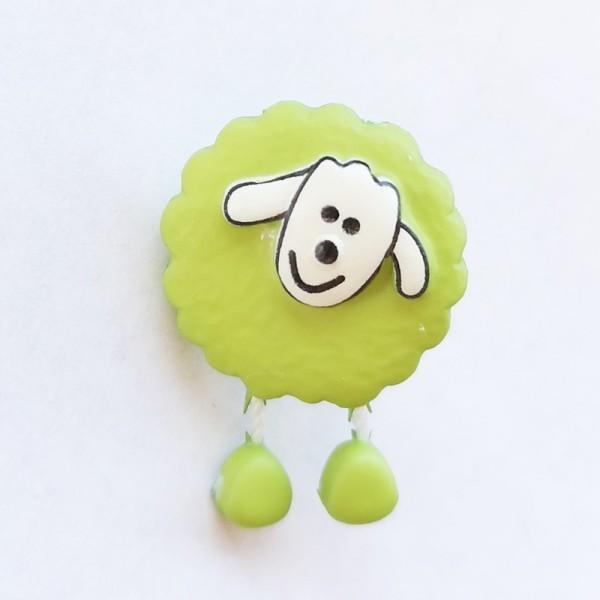 Schaf, hellgrün, Knopf