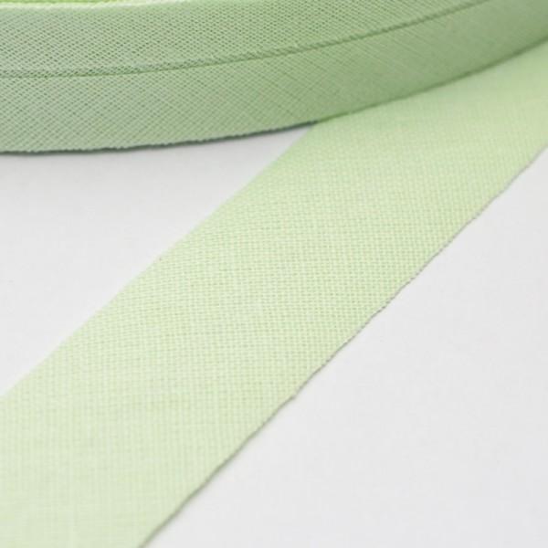 Schrägband, 20 mm, weißgrün