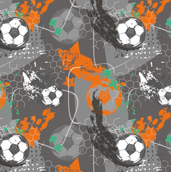 Football auf dunkelgrau, Jersey, *Letztes Stück ca. 120 cm*