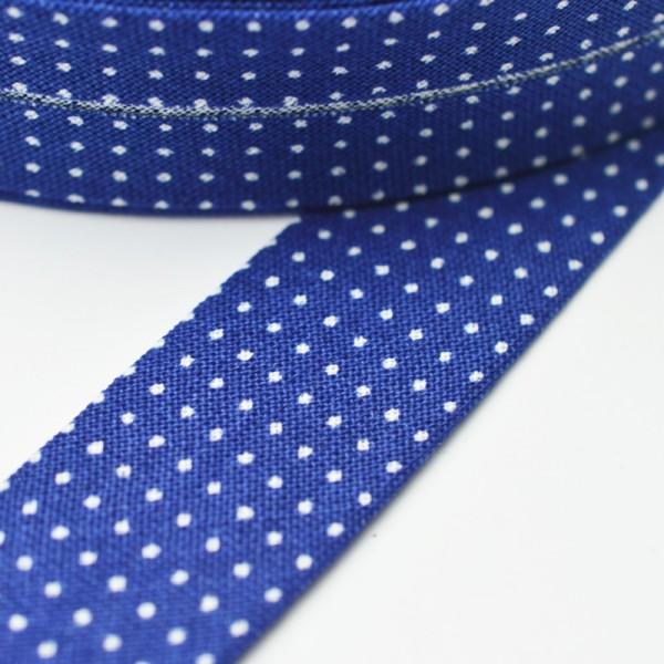 Westfalen Schrägband, Mini-Punkte royalblau