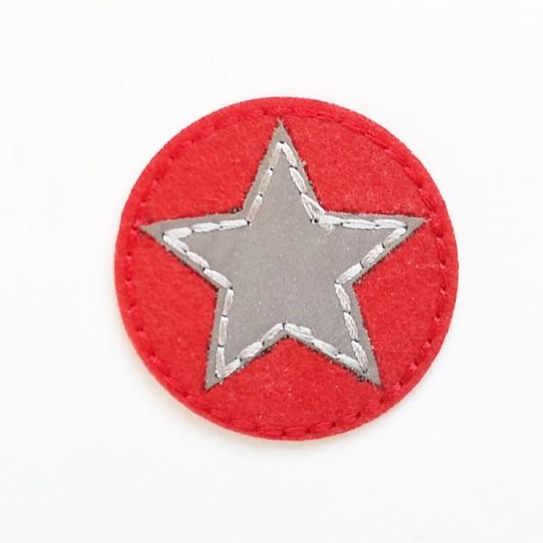 Applikation Stern, rot reflektierend