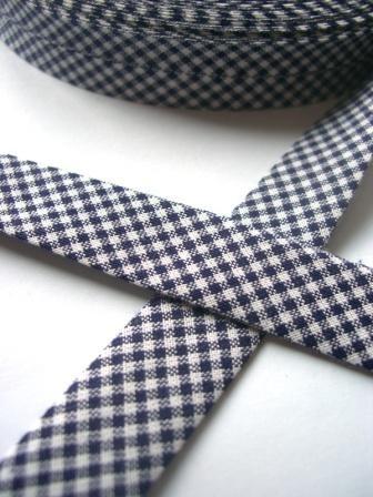 Westfalen Schrägband, karo dunkelblau-weiß