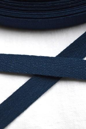 Köperband, 10 mm, dunkelblau