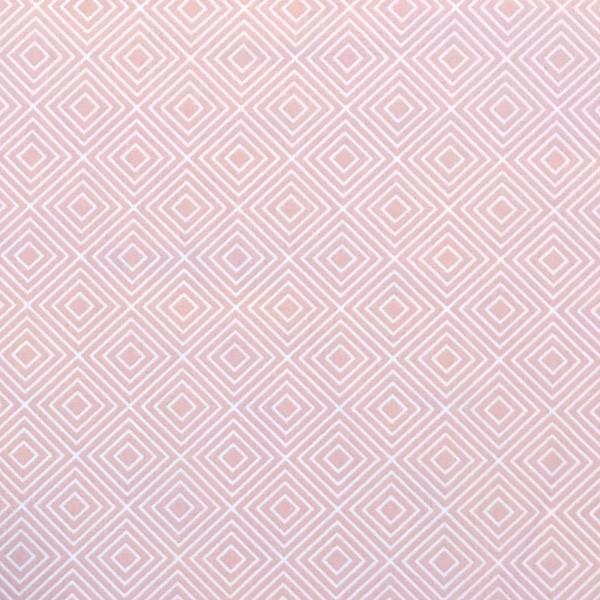 Lili Squares, weiß auf hellem rosa, Webstoff