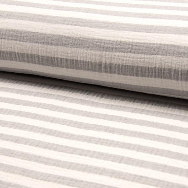 Bambino Musselin, Stripes taupe