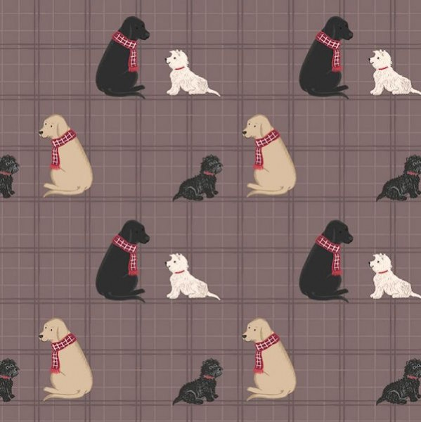 Lewis & Irene, Dogs with Scarfs, Webstoff