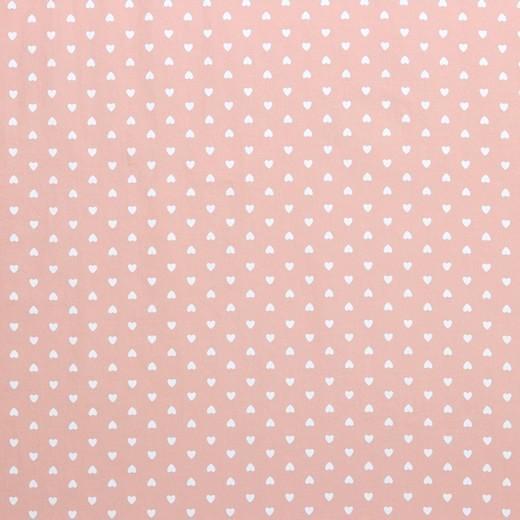 Washed Baumwollstoff, Herzen rosa, bei 60° waschbar