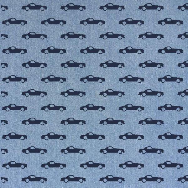 Sommerjeans Autos, helles jeansblau