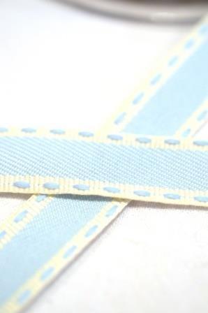 Vintage Stitch, hellblau, Webband