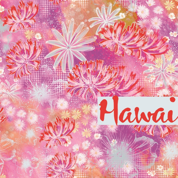 lillestoff, Hawai rosa, Bio-Baumwollstoff