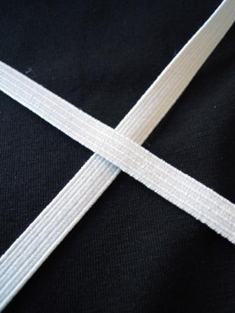 Einziehgummi, weiß, 6 mm