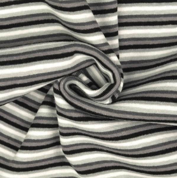 Linus Ringelbündchen schwarz/grau/weiß gestreift