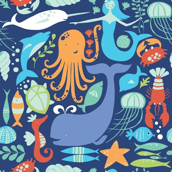 Monaluna, Under the Sea, Sea Life, Bio-Webstoff