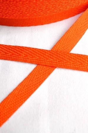 Köperband, 10 mm, orange