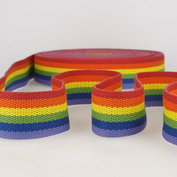Gurtband, buntgestreift, regenbogen