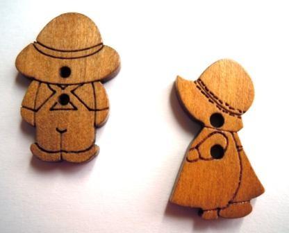 Bub oder Mädchen, Holzknopf