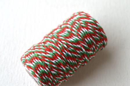 dünne Kordel, 1,5 mm, grün-rot-weiß *SALE*
