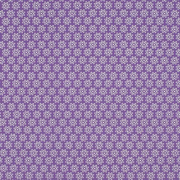 Miri kleine Blüte, lila, Webstoff