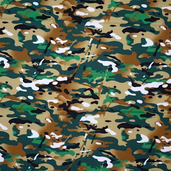 Peter, Camouflage grasgrün/braun, Baumwollstoff