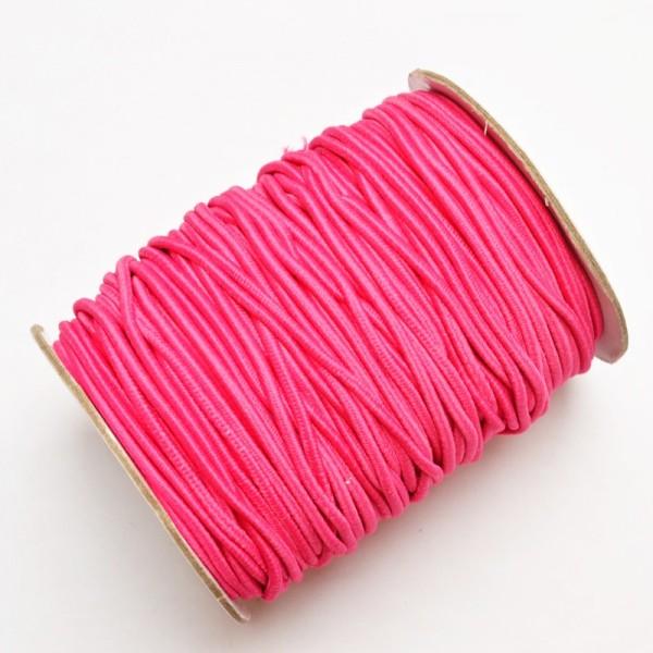 Gummischnur, 3 mm, pink