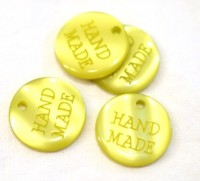 Plakette Hand Made, lime *SALE*