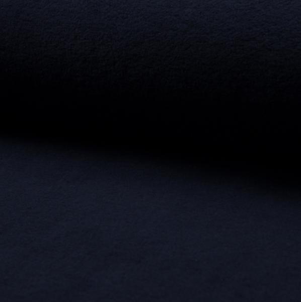 Baumwollfleece dunkelblau