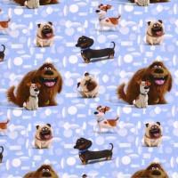 Digitaldruck Animals of Pets, Duke and Friends hellblau, Jersey