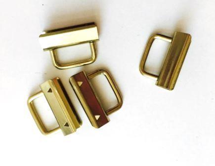 Clip für Schlüsselband - gold, 30 mm