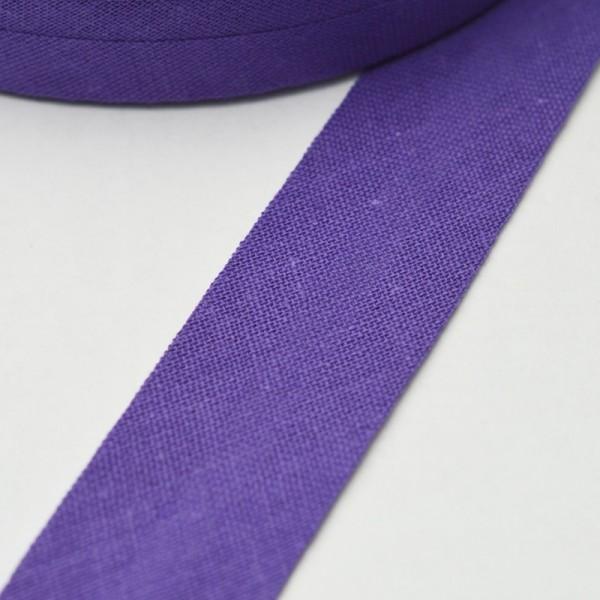 Schrägband, 20 mm, dunkles violett