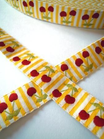 Kirschen, gelb, Webband