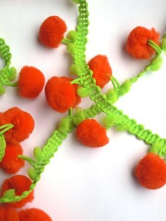 Pommerlborte, zweifärbig orange-grün
