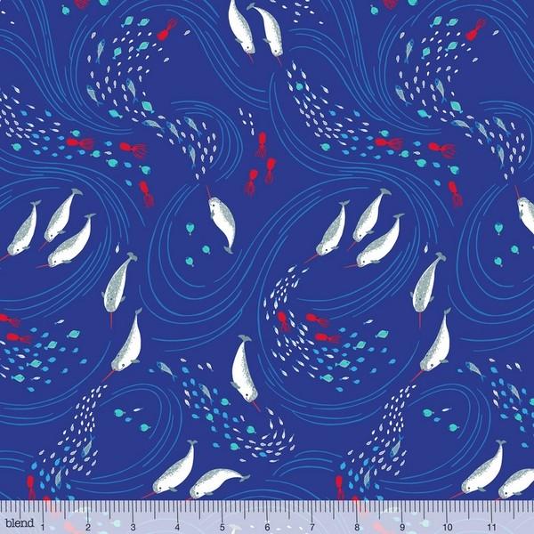 blendfabrics, Northern Seas, Meeresströmung auf blau
