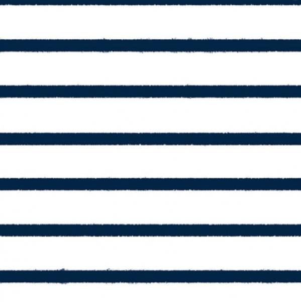 Bloome Stripes navy auf weiß, Bio-Jersey