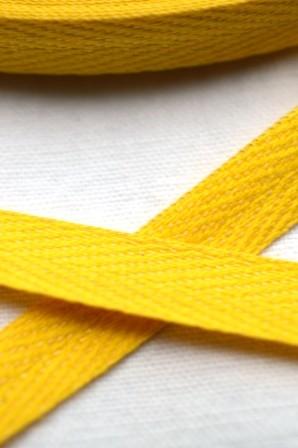 Köperband, 10 mm, gelb