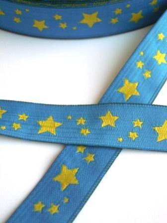 Twinkle Twinkle, blau-gelb, Webband