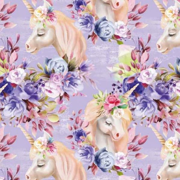 Digital Romantic Unicorn flieder, Jersey