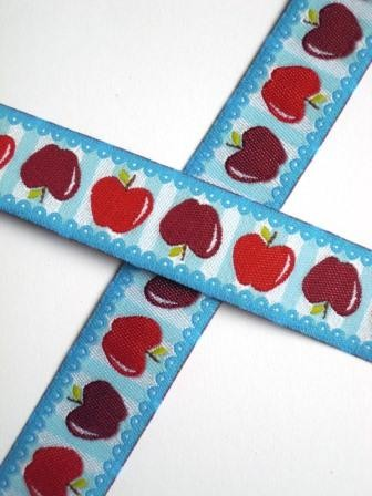 Apfel, türkis-rot, Webband