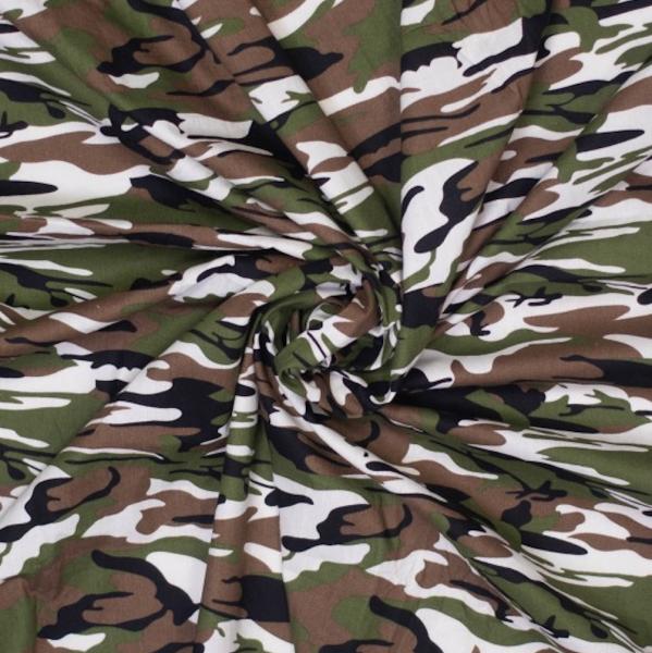 Franz, Camouflage grün/braun, Baumwollstoff