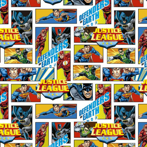 Superhelden Comic, Bio-Baumwoll-Popeline