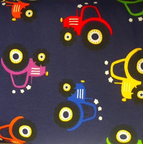 Traktor bunt auf dunkelblau, Jersey