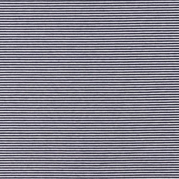 Jersey, Schmale Streifen dunkelblau/offwhite, *Letztes Stück ca. 120 cm*