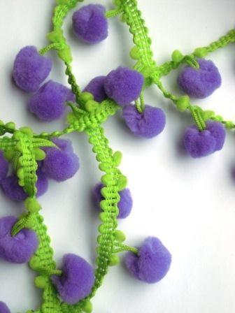 Pommerlborte, zweifärbig violett-grün