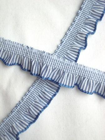 Streifenrüsche, dunkelblau