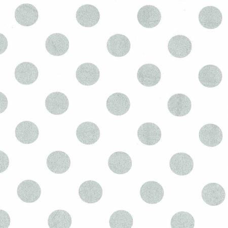 Michael Miller Glitz Quarter Dot silber, *Letztes Stück ca. 100 cm*