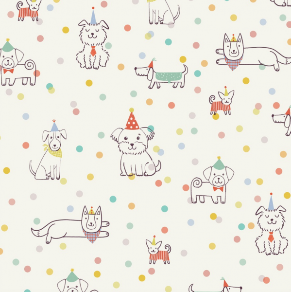 lillestoff, Puppy Party, Bio-Baumwollstoff