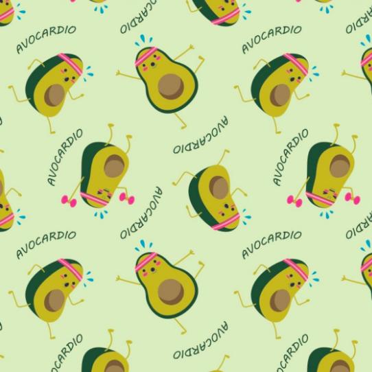 Camelot, Very Punny, Avocados Green, Baumwollstoff